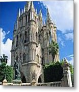Mexico, View Of Parroquia Church San Metal Print by Kyle Rothenborg