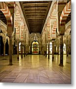 Mezquita Interior In Cordoba Metal Print