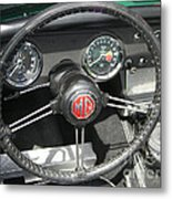 Mg Midget Instrument Panel Metal Print