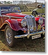 Mg Model Tf 1953 And Ford Model A 1928 Roadsters Metal Print