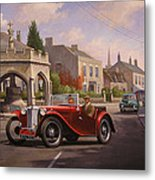 Mg Tc Sports Car Metal Print