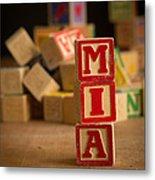 Mia - Alphabet Blocks Metal Print