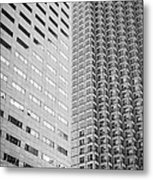 Miami Architecture Detail 2 - Black And White Metal Print by Ian Monk
