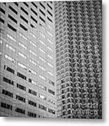 Miami Architecture Detail 2 - Black And White - Square Crop Metal Print by Ian Monk