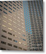 Miami Architecture Detail 2 - Square Crop Metal Print by Ian Monk