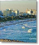 Miami Beach Sunset Metal Print