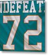 Miami Dolphins Undefeated Season Metal Print