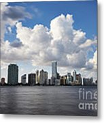 Miami Downtown In Slow Metal Print by Eyzen M Kim