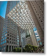 Miami Downtown Shadowplay Metal Print by Ian Monk