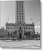 Miami Freedom Tower 3 - Miami - Florida - Black And White Metal Print