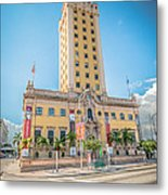 Miami Freedom Tower 4 - Miami - Florida Metal Print by Ian Monk