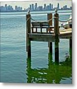 Miami In The Distance Metal Print