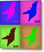 Miami Pop Art Map 1 Metal Print