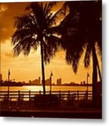 Miami South Beach Romance II Metal Print