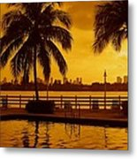 Miami South Beach Romance Metal Print