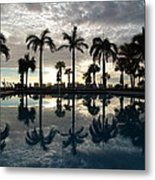 Miami Sunset Metal Print