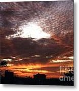 Miami Sunset Metal Print by Steven Valkenberg