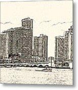 Miami - Venetian Causeway Metal Print