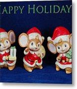 Mice Holiday Metal Print
