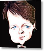Michael J. Fox Illustration Metal Print by Diego Abelenda