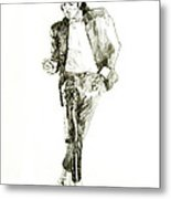 Michael Jackson Billy Jean Metal Print by David Lloyd Glover