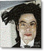 Michael Jackson - Fly Away Hair Mosaic Metal Print