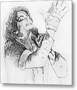 Michael Jackson Passion Sketch Metal Print