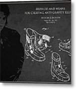 Michael Jackson Patent Metal Print