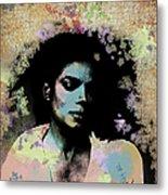 Michael Jackson - Scatter Watercolor Metal Print