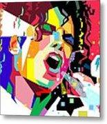 Michael Jackson singing on WPAP Metal Print