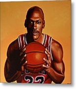 Michael Jordan 2 Metal Print by Paul Meijering