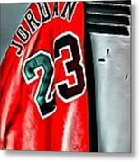 Michael Jordan 23 Shirt Metal Print