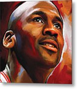 Michael Jordan Artwork 2 Metal Print