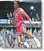 Michael Jordan Metal Print by Freda Nichols