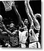 Michael Jordan Going For A Hard Layup Metal Print by Retro Images Archive