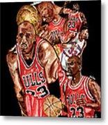 Michael Jordan Metal Print by Israel Torres