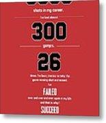 Michael Jordan Quote Sports Inspirational Quotes Poster Metal Print