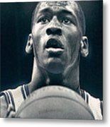Michael Jordan Shots Free Throw Metal Print by Retro Images Archive