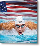 Michael Phelps Artwork Metal Print