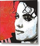 Michael Red And White Metal Print