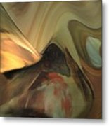 Michelangelo Fresco Ceiling Atmosphere Metal Print