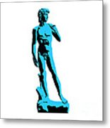 Michelangelos David - Stencil Style Metal Print