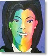 Michelle Obama Color Effect Metal Print