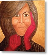 Michelle Obama Metal Print by Ginnie McKnight