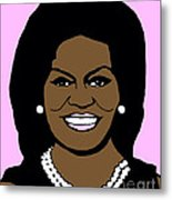 Michelle Obama Metal Print by Jost Houk