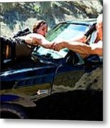 Michelle Rodriguez And Vin Diesel @ Fast To Furious Metal Print