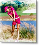 Michelle Wie Plays A Shot On The 6th Hole Metal Print