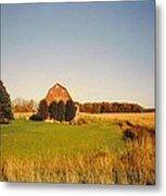 Michigan Barn And Landscape Metal Print