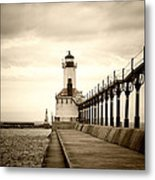 Michigan City Lighthouse Metal Print