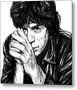 Mick Jagger Art Drawing Sketch Portrait Metal Print